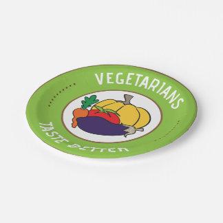 Vegetarians taste better paper plate
