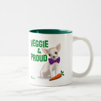 Veggie and Proud Two-Tone Mug