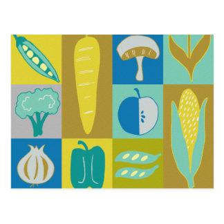 Veggie Blocks II Postcard