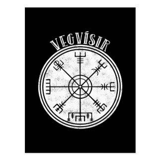 VEGVISIR  Icelandic compass Stave Postcard