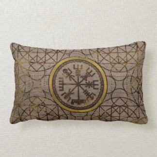 Vegvisir. The Magic Navigation Viking Compass Lumbar Cushion