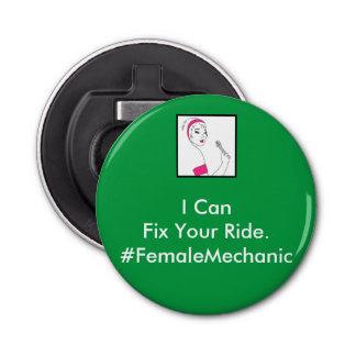Vehicle Repair Female Mechanic Bottle Opener