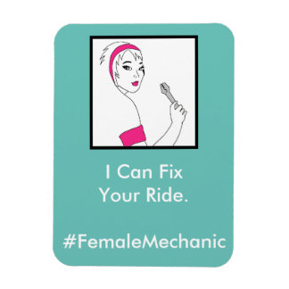 Vehicle Repair Female Mechanic Rectangular Photo Magnet