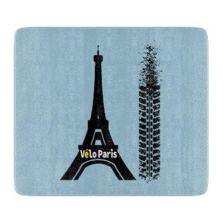 Velo Paris Bicycle Eiffel Tower Cutting Board