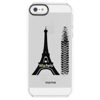 Velo Paris Bike Eiffel Tower Clear iPhone SE/5/5s Case