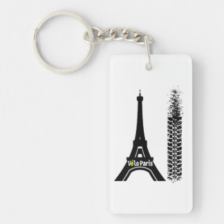 Velo Paris Bike Eiffel Tower Key Ring