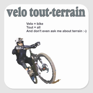 Velo Tout-Terrain Square Sticker