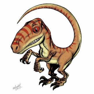 Velociraptor Raptor Dinosaur by Marco D Carillo Standing Photo Sculpture