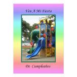 Ven a Mi Fiesta de Cumpleaños 4 Personalized Announcement