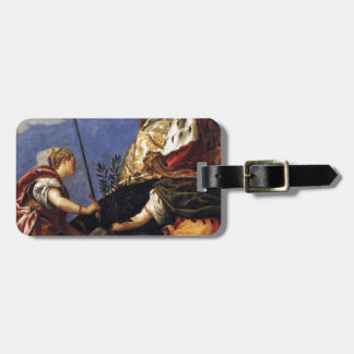 Venetia between Justitia and Pax by Paolo Veronese Luggage Tag