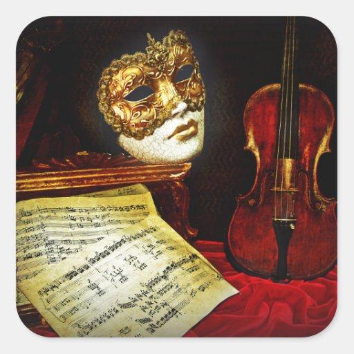 Venetian Masks collection - Musical night Sticker
