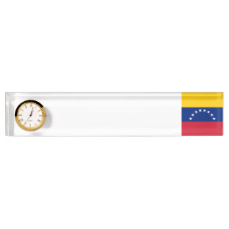 Venezuela Flag Desk Name Plates