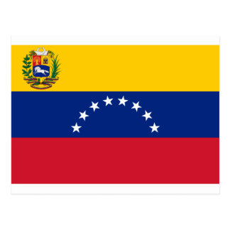 Venezuelan Flag - Flag of Venezuela - Bandera Postcard