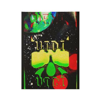 Veni Vidi Vici: Red, Yellow, Green Wood Poster