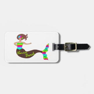 Venice Beach, Florida Mermaid Custom Luggage Tag
