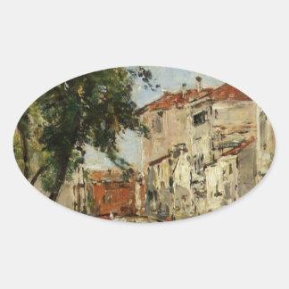 Venice by Eugene Boudin Oval Sticker