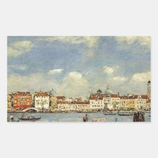 Venice by Eugene Boudin Rectangular Sticker