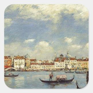 Venice by Eugene Boudin Square Sticker