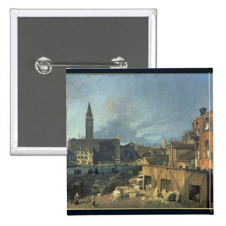 Venice: Campo San Vidal and Santa Maria Carita 15 Cm Square Badge