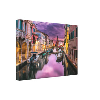Venice, Italy Scenic Canal & Venetian Architecture Canvas Prints