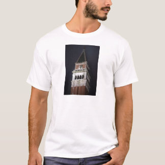 Venice San Marco Bell Tower at Night Time T-Shirt