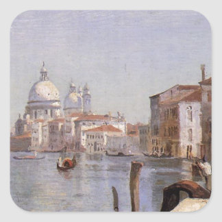 Venice - View of Campo della Carita looking ... Square Sticker