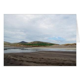 Ventry Beach - tidal river Card