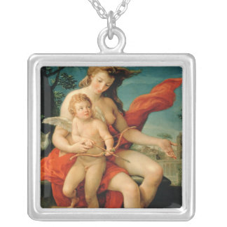 Venus and Cupid, 1785 Silver Plated Necklace