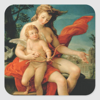 Venus and Cupid, 1785 Square Sticker