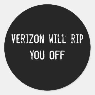 Verizon will rip you off stickers