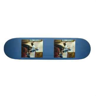 Vermeer s Young Woman with a Water Pitcher ca 1665 Skate Board Decks