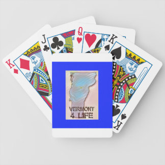 """""""Vermont 4 Life"""" State Map Pride Design Bicycle Playing Cards"""