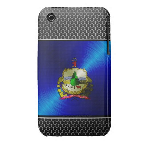 Vermont brushed metal flag iPhone 3 case