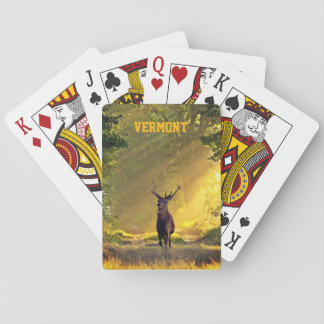 Vermont Buck Deer Playing Cards