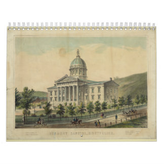 Vermont Capitol Building Montpelier Wall Calendars