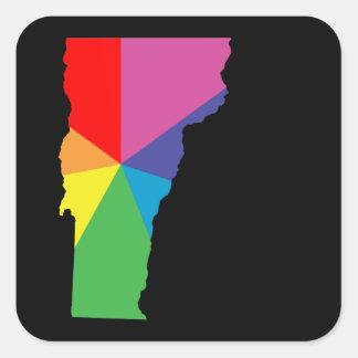 vermont color burst square sticker