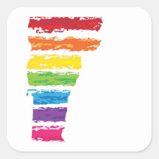 vermont color strokes square sticker