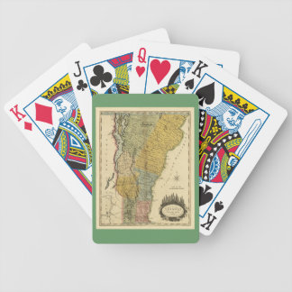 Vermont, From actual Survey - Vintage 1814 Map Bicycle Playing Cards