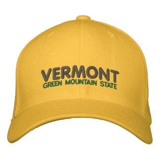 Vermont Green Mountain State Ballcap Embroidered Hat