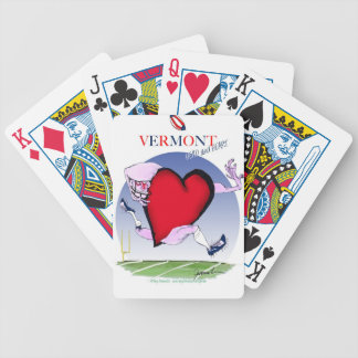Vermont head heart, tony fernandes bicycle playing cards