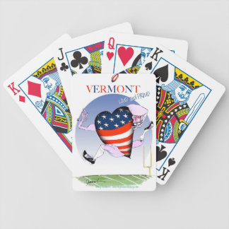 Vermont loud and proud, tony fernandes bicycle playing cards