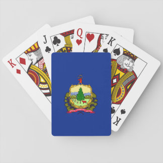 Vermont State Flag Design Playing Cards