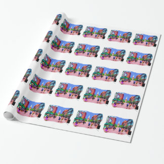 Vermont Street Painting Wrapping Paper