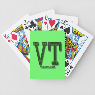 Vermont VT  green cammo Bicycle Playing Cards