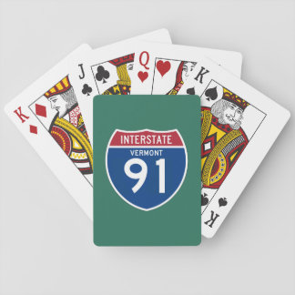 Vermont VT I-91 Interstate Highway Shield - Playing Cards