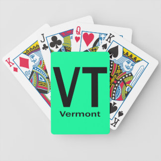 Vermont VT  plain black Bicycle Playing Cards