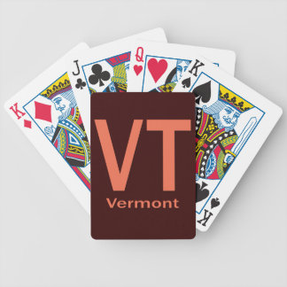 Vermont VT  plain orange Bicycle Playing Cards