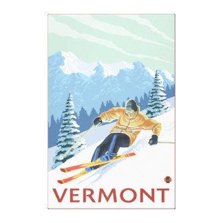 VermontDownhill Skier Scene Canvas Print