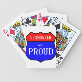 Vermonter And Proud Bicycle Playing Cards