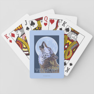 VermontHowling Wolf Playing Cards